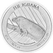 Fiji Iguana Silbermünze