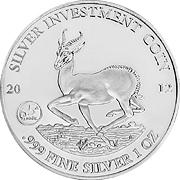 Gabun Springbock Silbermünze