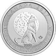 Grauwolf Kanada Silbermünze