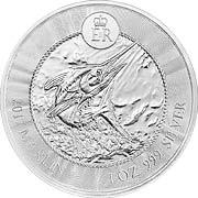 Marlin Speerfisch Silbermünze