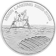 Moon Landing Silbermünze