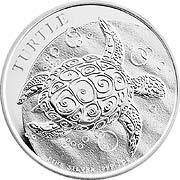 Niue Turtle Schildkröte Silbermünze