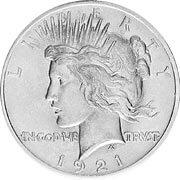 Peace Dollar Silbermünze