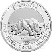 Polarbär Kanada Silbermünze