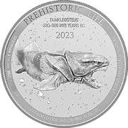 Prehistoric Life Silbermünze