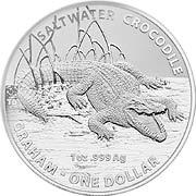 Salzwasser Krokodil (RAM) Silbermünze
