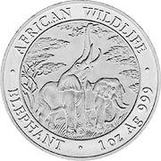 Sambia Elefant Silbermünze