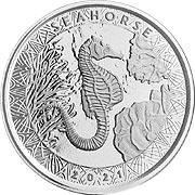 Samoa Seepferdchen Silbermünze