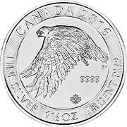 Schneefalke Kanada Silbermünze