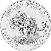 Somalia Leopard Silbermünze