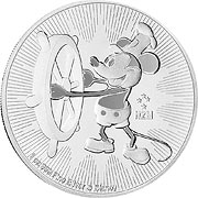 Steamboat Willie Silbermünzen