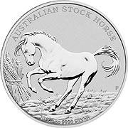 Stock Horse Silbermünze