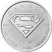Superman Kanada Silbermünze