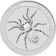 Trichternetzspinne Silbermünze