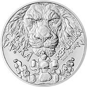Tschechischer Löwe Silbermünze