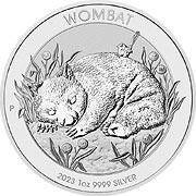 Wombat Silbermünze