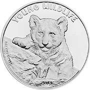 Young Wildlife Silbermünze