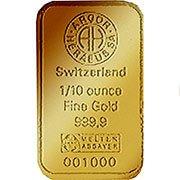 1/10 oz weitere Goldbarren