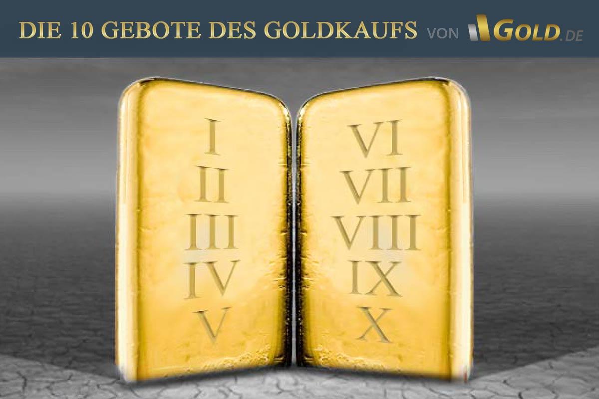 Die 19 Gebote beim Goldkauf