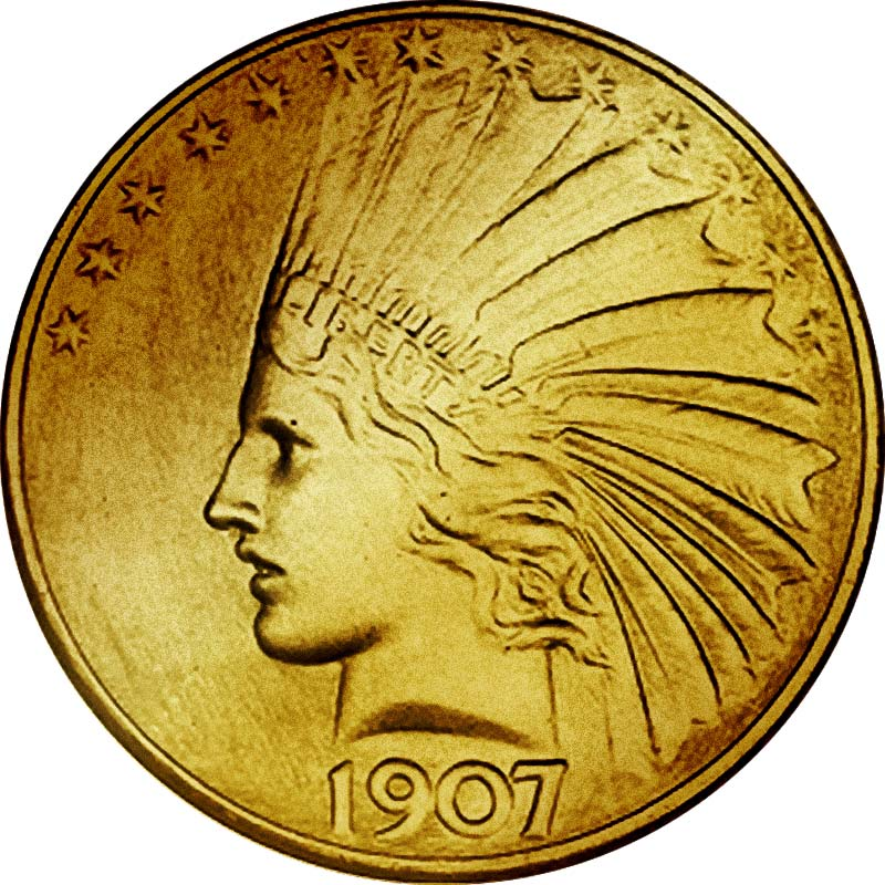 Indian Head 1907 - 10 Dollar