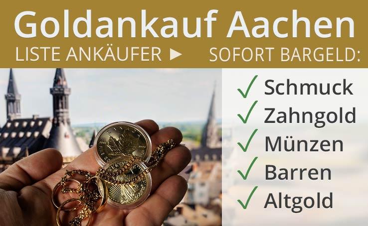 Goldankauf in Aachen Altgold direkt Vorort verkaufen