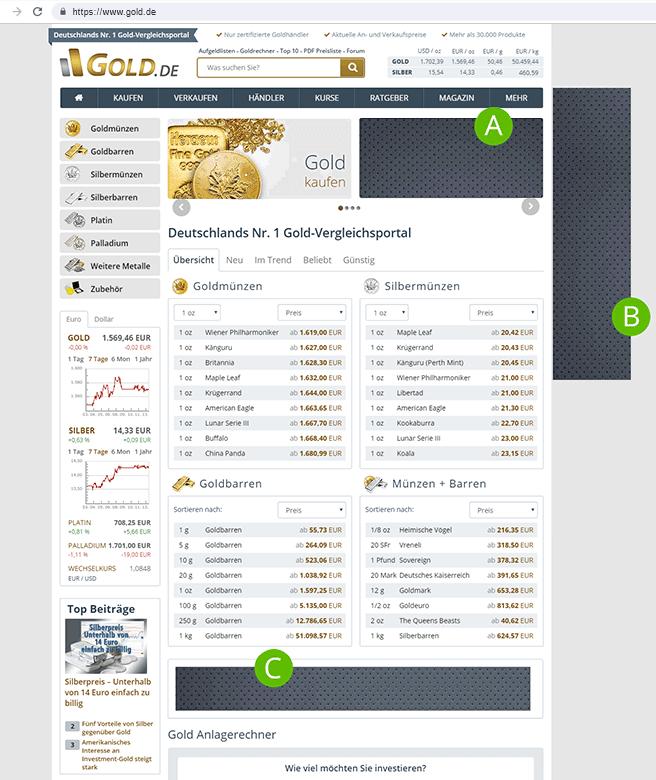 Werben auf Gold.de