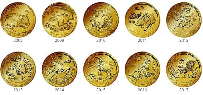 Lunar II Gold - Alle Motive der Serie komplett