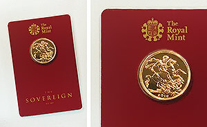 Sovereign im Blister der Royal Mint