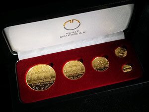Gold Wiener Philharmoniker Set (1 oz, 1/2 oz, 1/4 oz, 1/10 oz)
