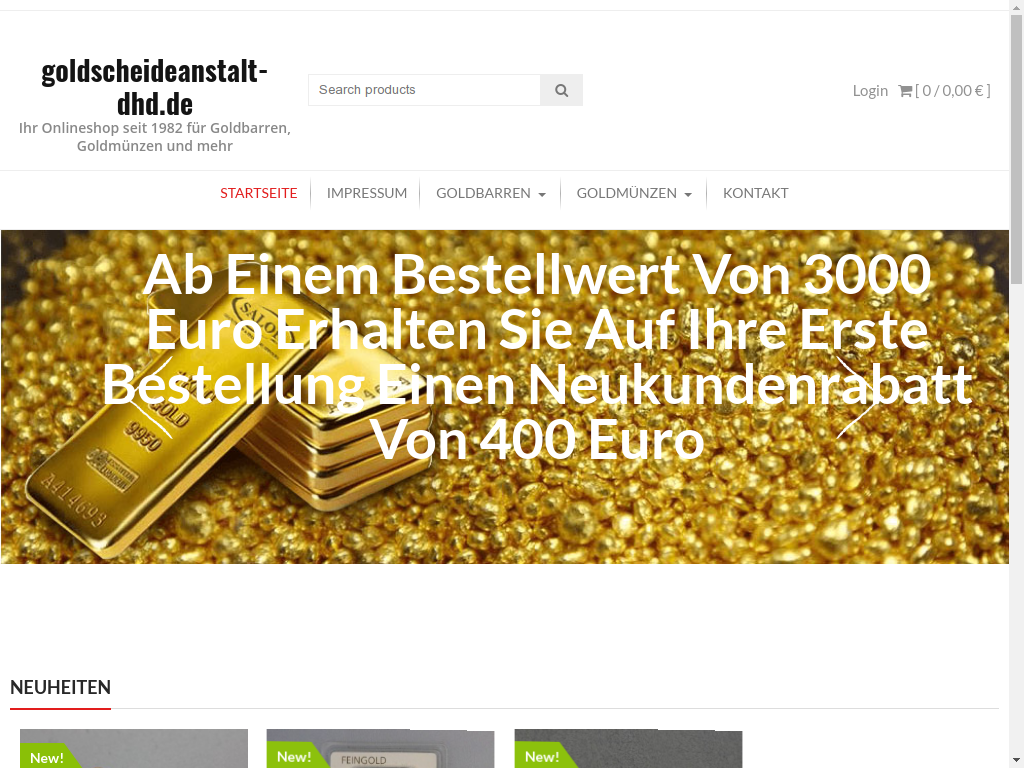 Gold Fakeshop goldscheideanstalt-dhd.de