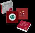 Niob Silbermünzen Verpackung mit COA und Etui