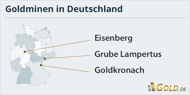 Goldminen in Deutschland