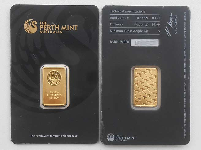 Fälschung Perth Mint Goldbarren Fake