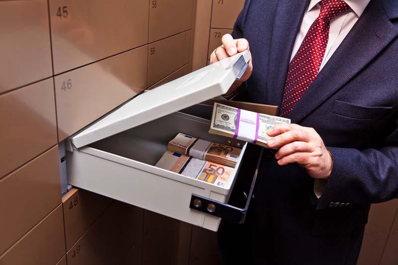 Bankschliessfach für Gold & Silber