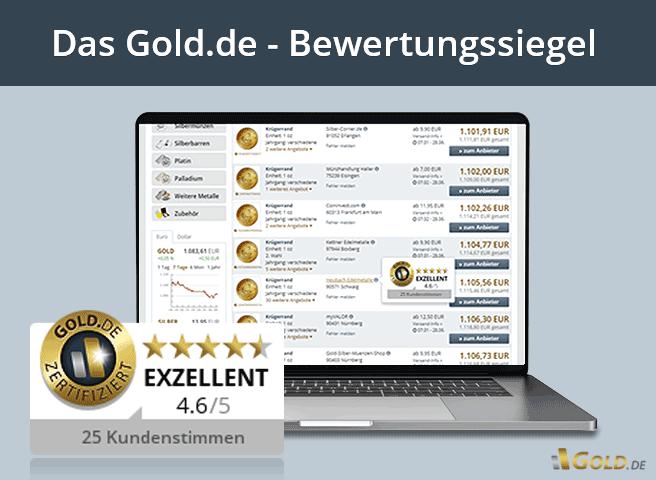 Gold.de Bewertungssiegel