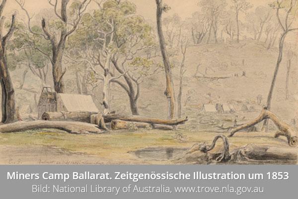 Goldmining Ballarat Australien