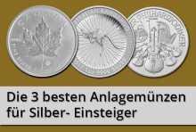 Die 3 besten Anlagemünzen aus Silber für Einsteiger