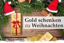 Gold und Silber schenken zu Weihnachten
