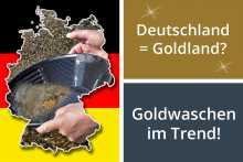 Goldwaschen in Deutschland