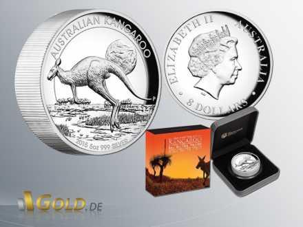 Kangaroo 2015 High Relief 5 oz Silbermünze