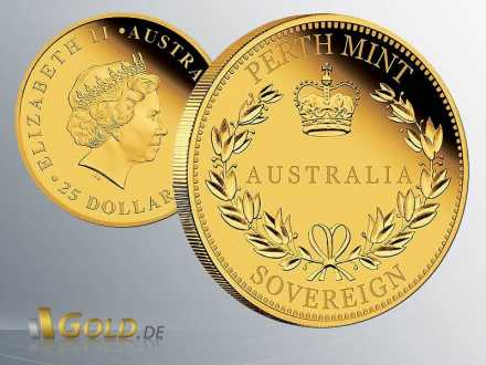 Australia Sovereign 2016 Proof Perth Mint