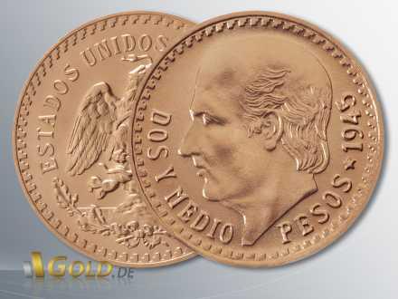 Centenario, Hidalgo, 2,5 Pesos in Gold (Mexiko)