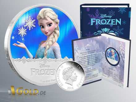 Disney Frozen - Magic of the Northern Lights Princessin Elsa1 oz Silbermünze Proof