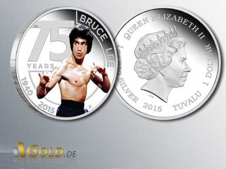 Bruce Lee, 75th Anniversary of Bruce Lee, Silbermünze 2015 1 oz