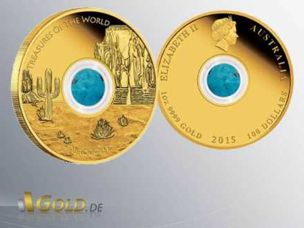 North America 2015 Treasures of the World, Goldmünze 1 oz