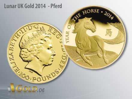 Lunar UK Gold, Motiv 2014 Pferd, 1 oz