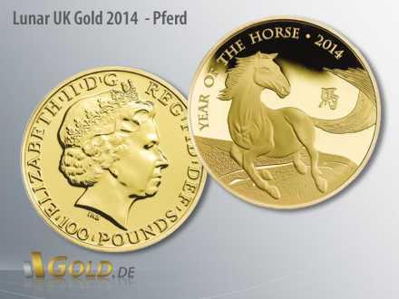 Lunar UK Gold, Motiv 2014 Pferd, 1 oz