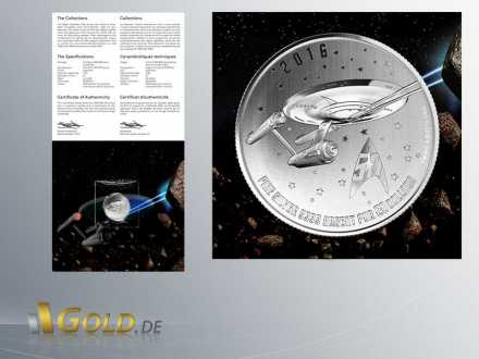 Star Trek Enterprise 2016 RCM Silbermuenze 7,96 g Blister