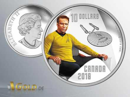 Star Trek 2016 RCM Kirk Silbermünze Proof