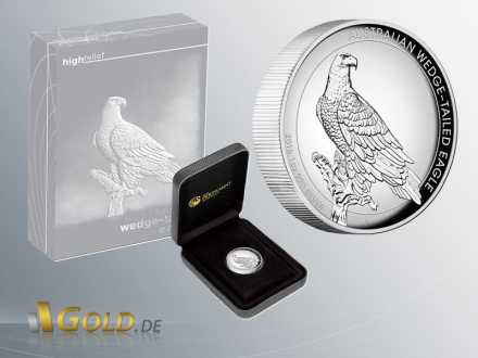 Wedge Tailed Eagle 2016 Silber Proof High Relief 1 oz Shipper